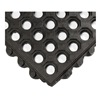 Wearwell 572.58X3X3NBRBK Modular Mat, Wet, 3 x 3, Nitrile Rubber