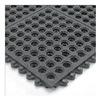 Wearwell 576.58X3X3NBRBK Modular Mat, 3 x 3, Nitrile, Grit, Open Grid