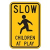 Lyle LW9-21-18HA Traffic Sign, 18 x 24In, BK/YEL, S5-1, MUTCD