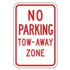 Lyle NP-038-12HA Parking Sign, 18 x 12In, R/WHT, Text