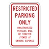 Lyle RP-065-RW-12HA Parking Sign, 18 x 12In, R/WHT, Text