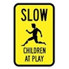 Brady 115227 Traffic Sign, 18 x 12In, BK/YEL, S5-1, MUTCD