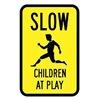 Brady 115227 Traffic Sign, 18 x 12In, BK/YEL, S5-1, MUTCD