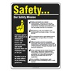 Accuform Signs PST220 Safety Poster, 24 x 18In, FLEX PLSTC, ENG