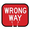 Tapco 535-00007 Traffic Cone Sign, Red w/White, Wrong Way