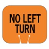Tapco 535-00017 Traffic Cone Sign, Orng/Blk, No Left Turn