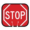 Tapco 535-00013 Traffic Cone Sign, Red w/White, Stop