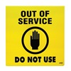 Prinzing SM272E Maintenance Sign, 14 x 14In, BK/YEL, ENG