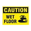 Prinzing SM673E Caution Sign, 7 x 10In, BK/YEL, Vinyl, MAG