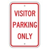 Brady 115221 Parking Sign, 18x12In, RED/WHT, Text, MUTCD