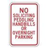 Lyle SL-006-12HA Parking Sign, 18 x 12In, R/WHT, Text