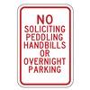 Lyle SL-006-12HA Parking Sign, 18 x 12In, R/WHT, Text