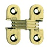 Soss 103US4PB Hinge, Invisible, Satin Brass, 1 1/2 In