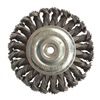 Westward 4EDC8 Wheel Brush, 4 In D, Steel, 0.0200 Wire