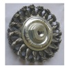 Westward 4EDD1 Wheel Brush, 6 In D, Steel, 0.0140 Wire