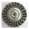 Westward 4EDD6 Wheel Brush, 4 In D, SS, 0.0140 Wire