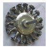 Westward 4EDF2 Wire Wheel, 3 1/4 In D, Steel, 0.0140 Wire