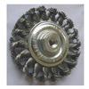 Westward 4EDV8 Wheel Brush, 4 In D, Steel, 0.0200 Wire