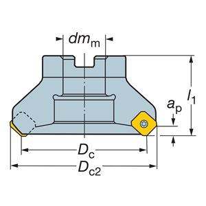 Sandvik Coromant RA245-254R63-12M