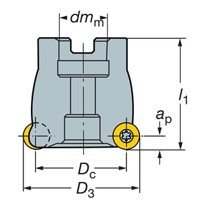 Sandvik Coromant RA300-051R19-13L