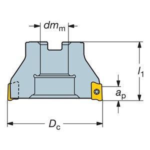 Sandvik Coromant RA390-076R25-17L