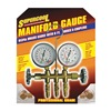 Supercool 66 A/C Manifold Gauge, PSI and BAR, Brass