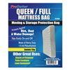 Approved Vendor 4NZF8 Mattress Bag, Full/Queen, 1.5 Mil