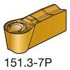 Sandvik Coromant N151.3-400-30-7P    1125 Carbide Pro Insert, N151.3-400-30-7P 1125, Pack of 10