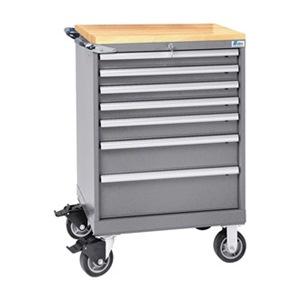 LISTA Mobile Service Bench, 165 lb., Light Gray