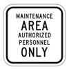 Lyle SEC-001-12HA Traffic Sign, 12 x 12In, BK/WHT, Text, MUTCD