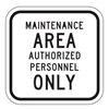 Lyle SEC-001-12HA Traffic Sign, 12 x 12In, BK/WHT, Text, MUTCD