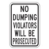 Lyle DL-001-12HA Traffic Sign, 18 x 12In, BK/WHT, Text, R16-3