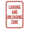Brady 115236 Traffic Sign, 18 x 12In, R/WHT, Text, MUTCD