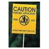 Blackburn 4V-291 Caution Sign, 4x5In, BK/YEL, ENG, SURF, PK25