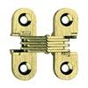 Soss 303US4PB Hinge, Invisible, Satin Brass, 1 1/2 In
