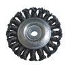 Westward 4EDC4 Wheel Brush, 3 In D, Steel, 0.0140 Wire
