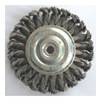 Westward 4EDC6 Wheel Brush, 4 In D, Steel, 0.0200 Wire