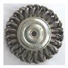 Westward 4EDC7 Wheel Brush, 4 In D, Steel, 0.0200 Wire
