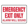 Accuform Signs MEXT921VS Exit Sign, 10 x 14In, R/WHT, Self-ADH, ENG