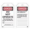Brady 65407 Danger Tag, 5-3/4 x 3 In, Cardstock, PK25