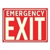 Electromark S550-R Emergency Exit Sign, 9 x 12In, EMER Exit