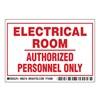 Brady 86218 Machine/Equipment Label, English, PK 5