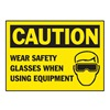 Brady 86187 Equipment Label, Black/Yellow, PK 5
