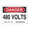 Brady 86060 Equipment Label, 3-1/2 In. H, PK 5