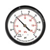 Approved Vendor 4FLZ7 Pressure Gauge, 1 1/2 In, 100 Psi, Back