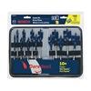 Bosch DSB5013P Stubby Spade Bit Set, 1/4-1 1/2, 6 L, 13 Pc