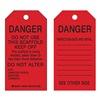 Brady 86573 Danger Tag, 5-3/4 x 3 In, Bk/R, Met, PK10
