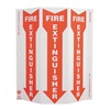Zing 4052 Fire Extinguisher Sign, 12 x 9In, WHT/R