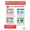 Zing 5011 Safety Poster, 22 x 16In, Flu Prevention