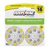 Rayovac L10ZA-16ZM Hearing Aid Battery, Size 10, Yellow, PK16